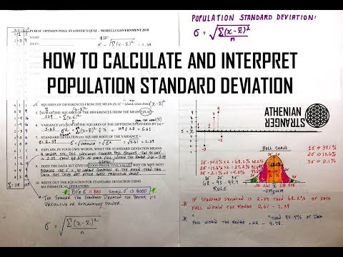 DIY STATS: How to Calculate Population Standard Deviation (σ) by Hand of a Public Opinion Poll