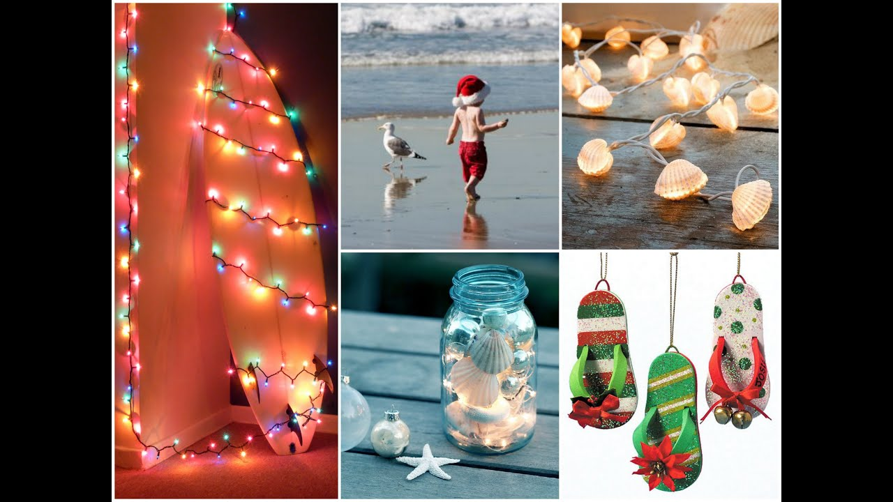 Beach Christmas Crafts Ideas - Coastal Christmas Decor - YouTube
