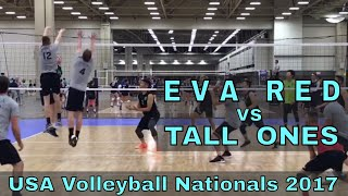 EVA Red vs Tall Ones (Day 2, Match 4) - USAV Nationals 2018 Volleyball Tournament