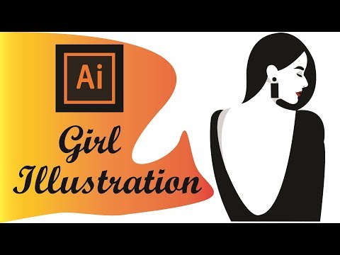 How to create FLAT ILLUSTRATION based on sketch in Adobe Illustrator- tutorial thumbnail