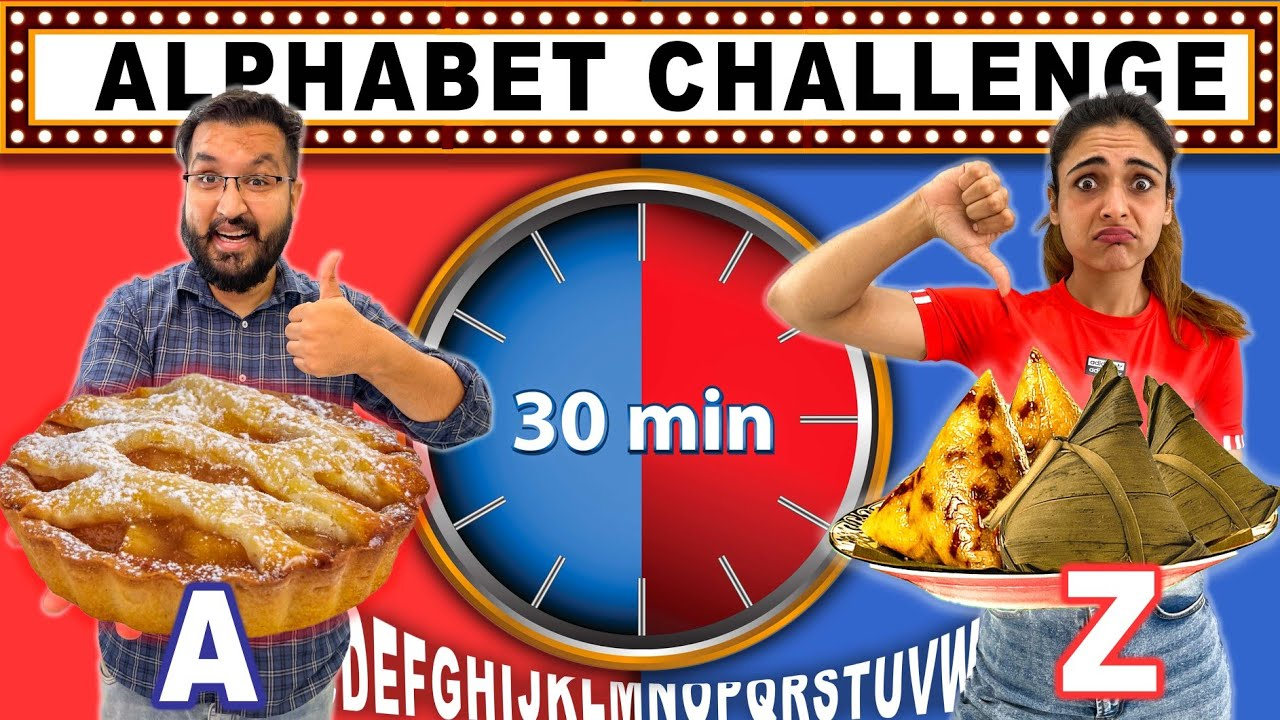 ALPHABETICAL Order FOOD CHALLENGE In Just 30 MINUTES 🔥