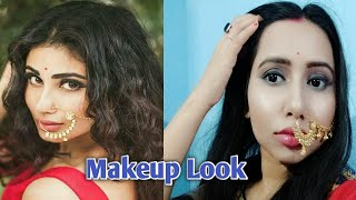 Mouni roy inspired makeup Look part -2 || shivanya makeup tutorial ||