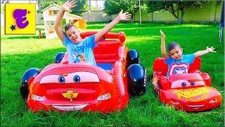 Егорка и ЯРИК Играют с НАДУВНЫМИ Машинками
