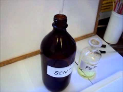 Iron(III) And Thiocyanate