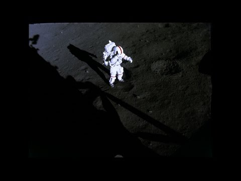 Gene Cernan takes his first steps on the moon