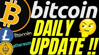 STILL BULLISH? BITCOIN LITECOIN and ETHEREUM DAILY UPDATE!  price, analysis, news, trading
