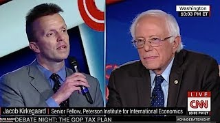 Bernie Sanders Nails Answer To Question By Conservative On Taxes and Social Safety Net