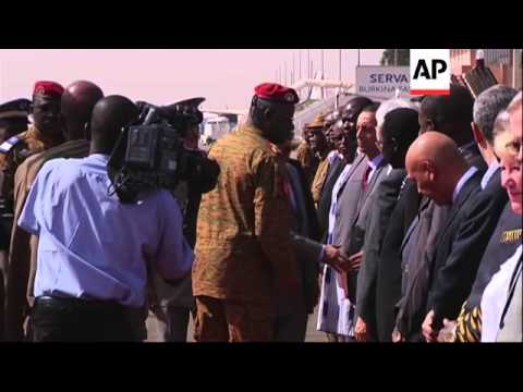 Mauritania's president and current African Union (AU) chief arrives and meets Zida