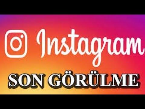 Instagram'da Son görülme Çevrimiçi Nasıl görülür ??