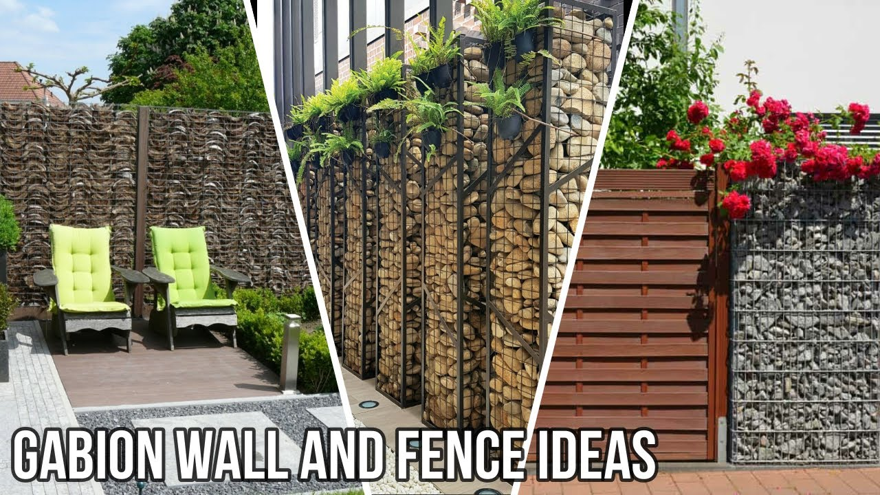 Top Gabion Wall and Fence Ideas For Your Outdoor Area