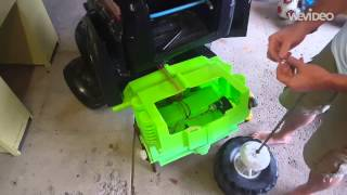grave digger powerwheels gear box and axle install