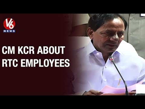 CM KCR announces 44% fitment to RTC employees in Hyderabad - Press Meet (13-05-2015)