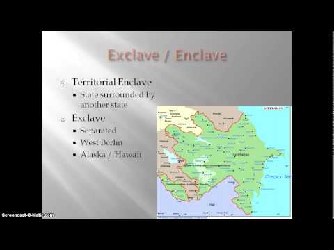 Exclaves and Enclaves