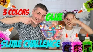 3 GLUE SLIME CHALLENGE!! | Pusheen Girl