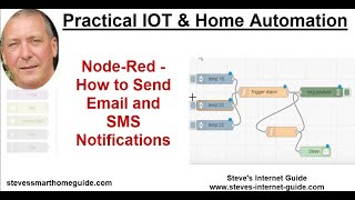 Node-Red -How to Sęnd Email and SMS Notifications