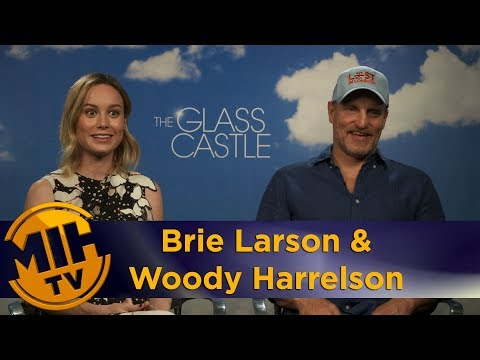 Brie Larson & Woody Harrelson The Glass Castle Interview