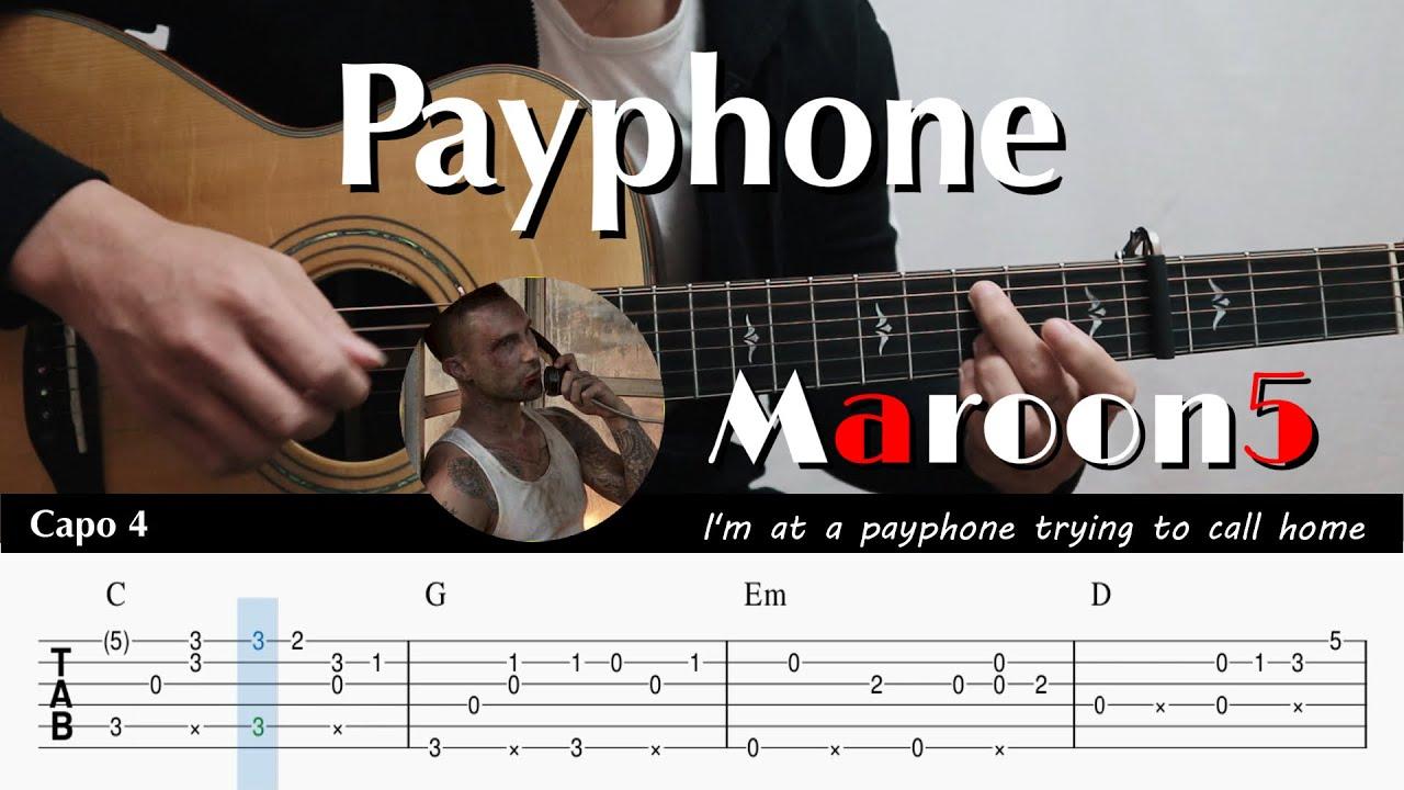 Maroon15   Payphone   Fingerstyle Guitar TAB + Chords + Lyrics