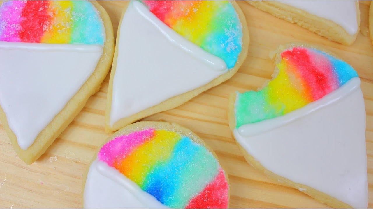 Galletas Decoradas Con Glaseado Arco Iris