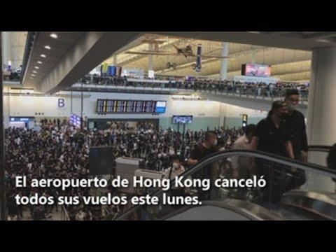 Sube la tensión en Hong Kong con los vuelos cancelados y un tono más duro de Pekín