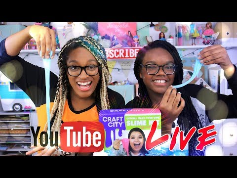 YouTube LIVE with the Froggy's Craft City Karina Garcia Official SLIME KIT plus Q&A and Fan Mail