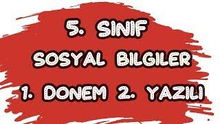 5. SINIF SOSYAL BİLGİLER 1. DÖNEM 2. YAZILI HAZIRLIK