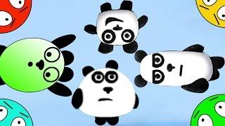 🐾 Четыре панды #3! Пещерные приключения на острове! Мультик Игра. Мультфильм для детей