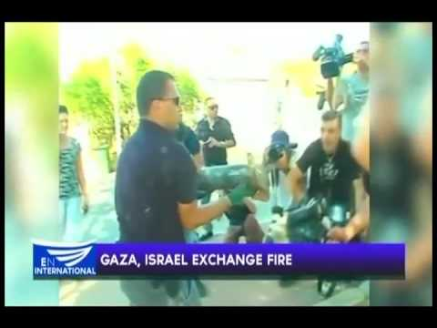 GAZA,ISRAEL EXCHANGE FIRE