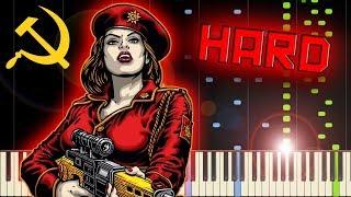RED ALERT 3 - SOVIET MARCH - Piano Tutorial