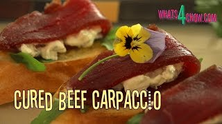 Cured Beef Ribeye Carpaccio. How To Cure Beef Ribeye Or Fillet At Home. Cured / Pickled Beef Recipe.
