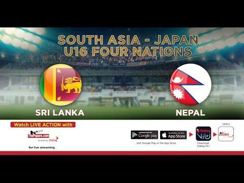 Sri Lanka v Nepal | South Asia-Japan U16 Four Nations