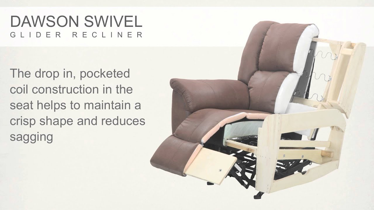 dawson swivel glider recliner youtube