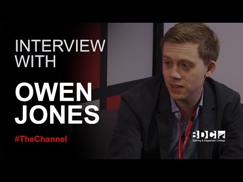 Interview with Owen Jones | Barking & Dagenham College | 0-60 #TheChannel