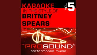 My Only Wish (This Year) (Karaoke With Background Vocals) (In the style of Britney Spears)