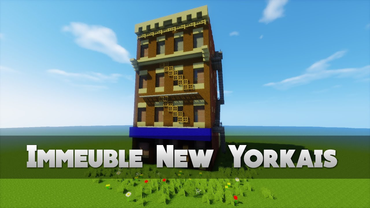 Tuto immeuble new yorkais minecraft youtube - Immeuble moderne minecraft ...