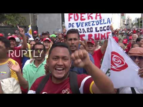 Venezuela: Thousands show support for Maduro at 'anti-imperialist' march