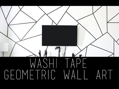 DIY Geometric Wall Art Using Washi Tape | Pinterest | Tumblr