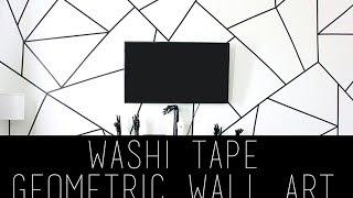 Diy Geometric Wall Art Using Washi Tape | Pinterest | Tumblr