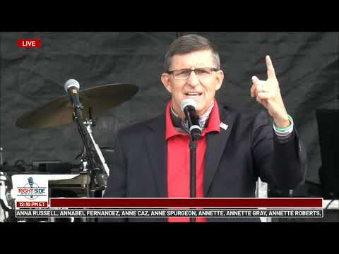 General Michael Flynn and Family Speak at Jericho March in DC 12/12/20