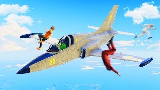 MISSION IMPOSSIBLE: LAUNCH PEOPLE WITH JETS! (GTA 5 Funny Moments)