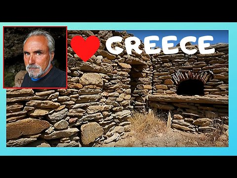 GREECE, abandoned 16th century village in the beautiful island of IOS