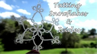 Tatted Lace Ice Crystals & Icicles