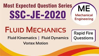 SSC JE 2020  | Most Expected Question Series | SSC JE Exam (FM - Mechanical Engg) - Part 2 Qns