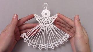 Новогодний ангел крючком/crochet angel