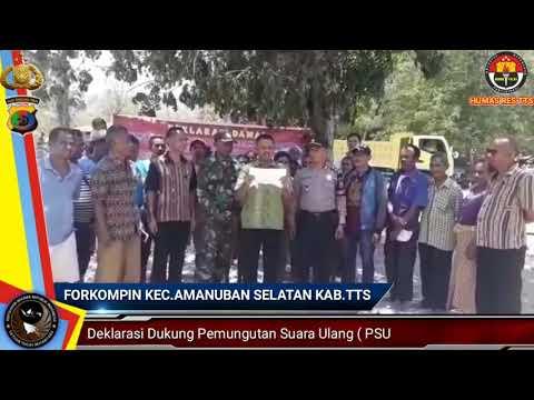 FORKOMPIN KEC.AMANUBAN SELATAN DUKUNG PSU PILKADA KAB TTS 2018