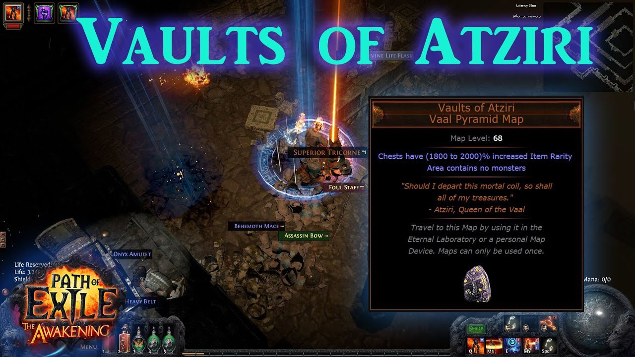 vaults of atziri how to get