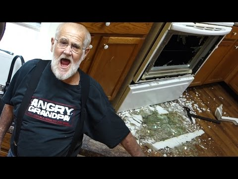 ANGRY GRANDPA DESTROYS KITCHEN!!
