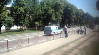 Винница. Трамвай Tatra KT4SU №221 на маршруте №5. Барское шоссе – Э...