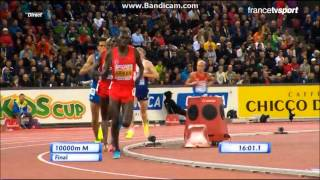 Bob Tahri et Mo Farah sur 10000m finale du Championnat d