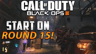 "Black Ops 3 Zombies - ""Shadows Of Evil"" Start on Round 15 With 16.5k Points on Solo! (BO3 Tutorials)"