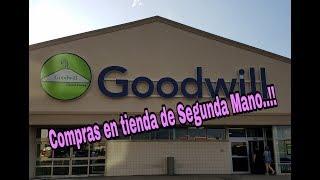Compras en tienda de Segunda mano (Goodwill)